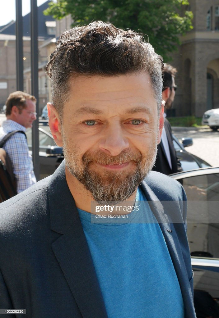 Actor <a gi-track='captionPersonalityLinkClicked' href=/galleries/search?phrase=Andy+Serkis&family=editorial&specificpeople=210893 ng-click='$event.stopPropagation()'>Andy Serkis</a> sighted at SAT1 television studio on July 18, 2014 in Berlin, Germany.