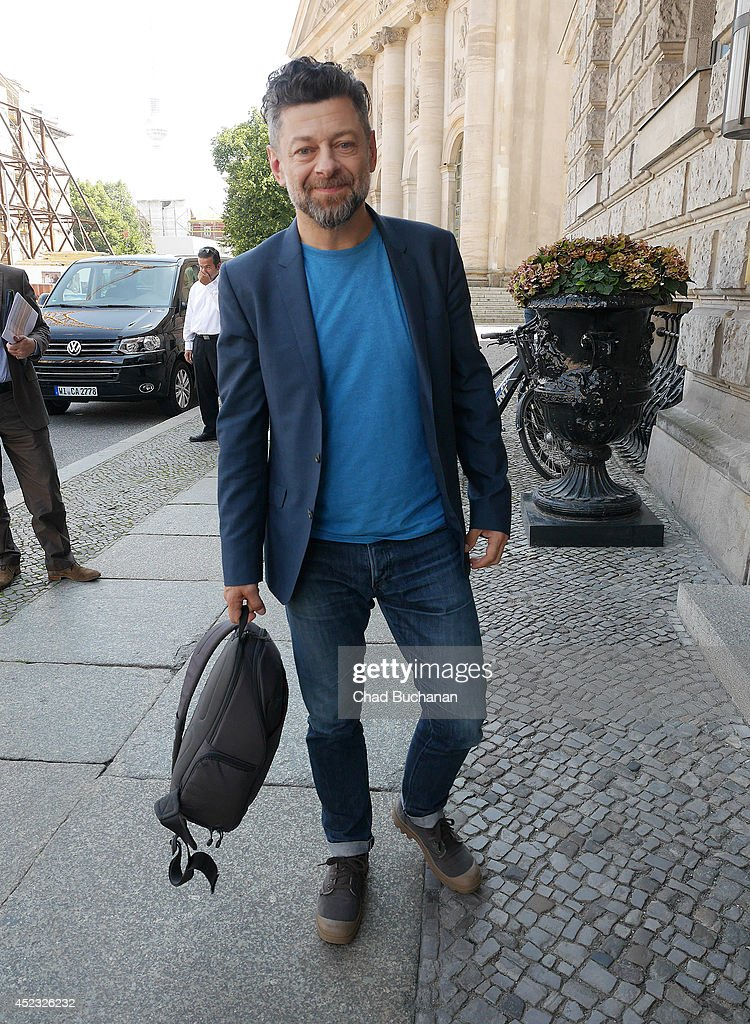Actor <a gi-track='captionPersonalityLinkClicked' href=/galleries/search?phrase=Andy+Serkis&family=editorial&specificpeople=210893 ng-click='$event.stopPropagation()'>Andy Serkis</a> sighted at the Hotel de Rome on July 18, 2014 in Berlin, Germany.