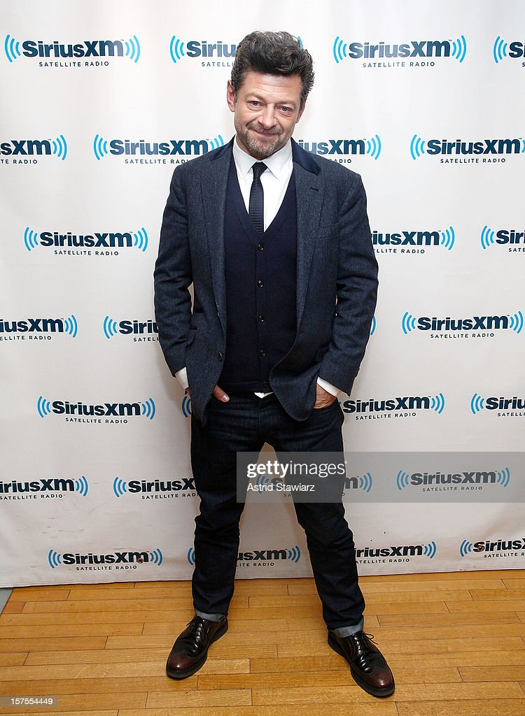Actor Andy Serkis visits the SiriusXM Studios on December 4, 2012 in New York City.