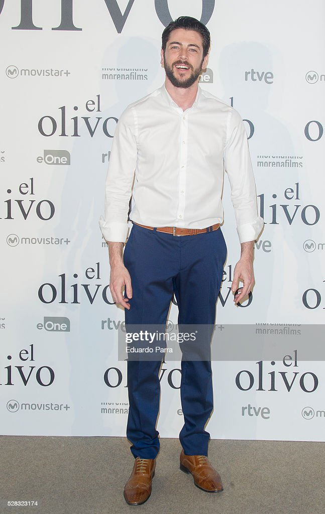 Actor Angel de Miguel attends 'El olivo' premiere at Capitol cinema on May 04, 2016 in Madrid, Spain.