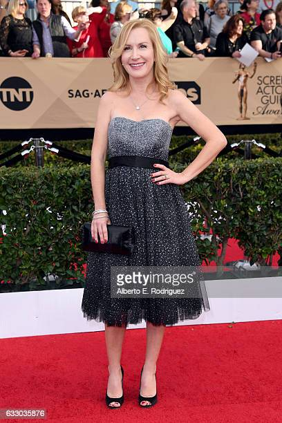 Actor Angela Kinsey attends the 23rd Annual Screen Actors Guild Awards at The Shrine Expo Hall on January 29 2017 in Los Angeles California