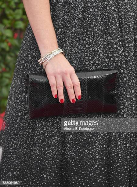 Actor Angela Kinsey fashion detail attends the 23rd Annual Screen Actors Guild Awards at The Shrine Expo Hall on January 29 2017 in Los Angeles...