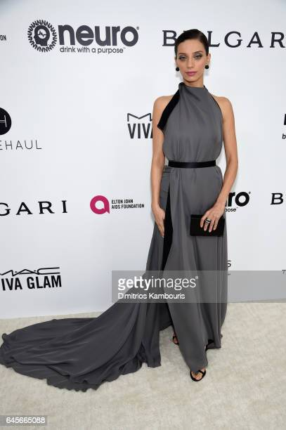 Actor Angela Sarafyan attends the 25th Annual Elton John AIDS Foundation's Academy Awards Viewing Party at The City of West Hollywood Park on...