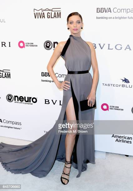 Actor Angela Sarafyan attends the 25th Annual Elton John AIDS Foundation's Academy Awards Viewing Party with cocktails by Clase Azul Tequila and...