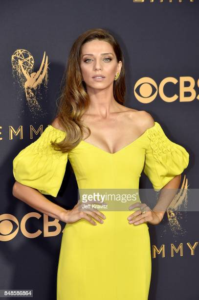 Actor Angela Sarafyan attends the 69th Annual Primetime Emmy Awards at Microsoft Theater on September 17 2017 in Los Angeles California