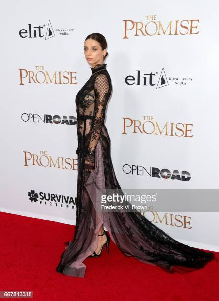 Actor Angela Sarafyan attends the premiere of Open Road Films' 'The Promise' at TCL Chinese Theatre on April 12 2017 in Hollywood California