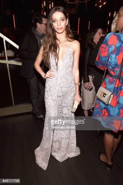 Actor Angela Sarafyan attends the tenth annual Women in Film PreOscar Cocktail Party presented by Max Mara and BMW at Nightingale Plaza on February...