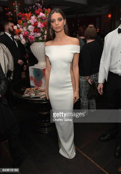 Actor Angela Sarafyan attends Vanity Fair and L'Oreal Paris Toast to Young Hollywood hosted by Dakota Johnson and Krista Smith at Delilah on February...