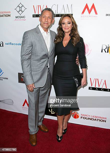 Actor Angelo Pagan and Actress Leah Remini attend the launch of VIVA GLAM Magazine's Celebrity Issue hosted by Leah Remini at Riviera 31 on June 2...