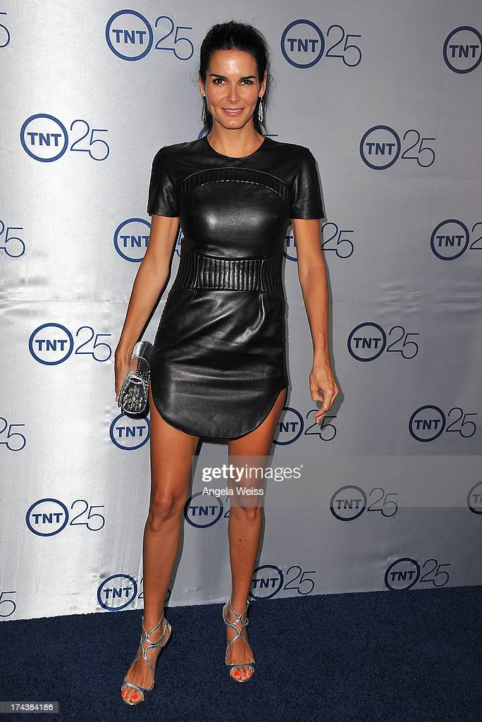 Actor <a gi-track='captionPersonalityLinkClicked' href=/galleries/search?phrase=Angie+Harmon&family=editorial&specificpeople=204576 ng-click='$event.stopPropagation()'>Angie Harmon</a> attends TNT's 25th Anniversary Party at The Beverly Hilton Hotel on July 24, 2013 in Beverly Hills, California.