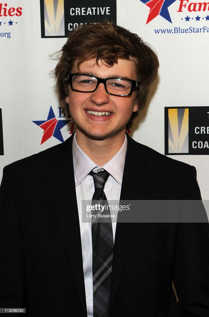 Actor Angus T. Jones attends the Creative Coalition and Blue Star Families PSA premiere gala at American Red Cross on April 28, 2011 in Washington, DC.