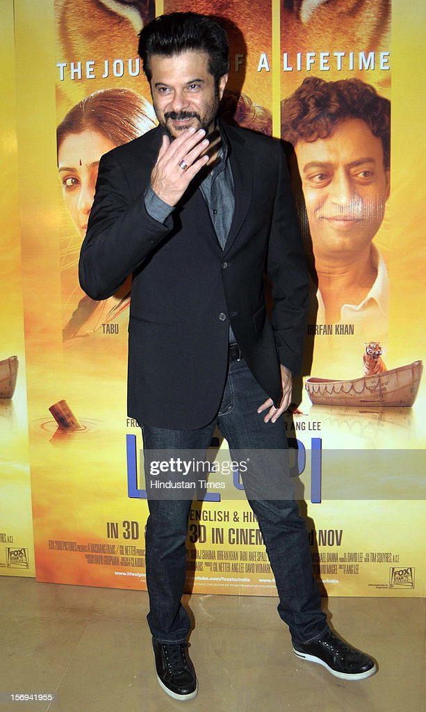 Actor Anil Kapoor during the special screening of 'Life of PI' movie at PVR Juhu on November 21, 2012, in Mumbai, India. The film opens on November 13, 2012.