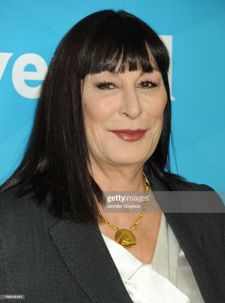 Actor Anjelica Huston attends the NBC Winter TCA Press Tour held at the Langham Huntington Hotel and Spa on January 6, 2013 in Pasadena, California.