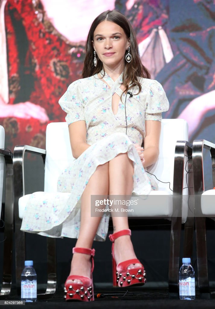 Actor Anna Brewster of 'Versailles' speaks onstage during the Ovation portion of the 2017 Summer Television Critics Association Press Tour at The Beverly Hilton Hotel on July 29, 2017 in Beverly Hills, California.