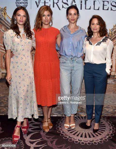 Actor Anna Brewster producer Aude Albano and actors Elisa Lasowski and Suzanne Clement of 'Versailles' at the Ovation Summer TCA Press Tour at The...