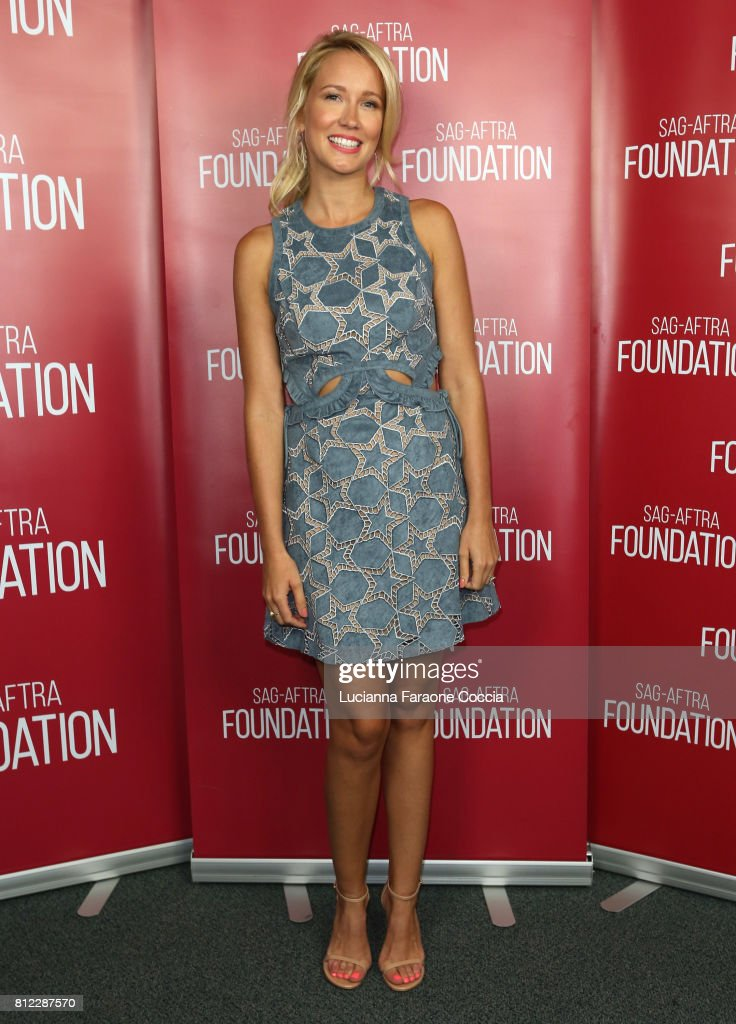 Actor Anna Camp at SAG-AFTRA Foundation's Conversations With 'Brave New Jersey' at SAG-AFTRA Foundation Screening Room on July 10, 2017 in Los Angeles, California.