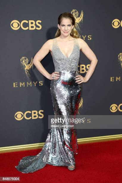 Actor Anna Chlumsky attends the 69th Annual Primetime Emmy Awards Arrivals at Microsoft Theater on September 17 2017 in Los Angeles California