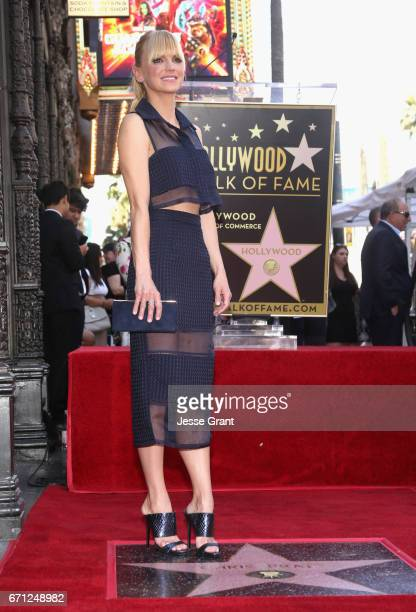 Actor Anna Faris at the Chris Pratt Walk Of Fame Star Ceremony on April 21 2017 in Hollywood California