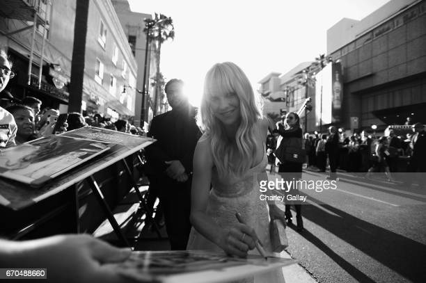 "Actor Anna Faris at The World Premiere of Marvel Studios' ""Guardians of the Galaxy Vol 2"" at Dolby Theatre in Hollywood CA April 19th 2017"