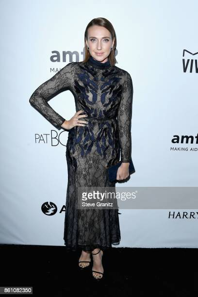 Actor Anna Schafer attends the amfAR Gala 2017 at Ron Burkle's Green Acres Estate on October 13 2017 in Beverly Hills California