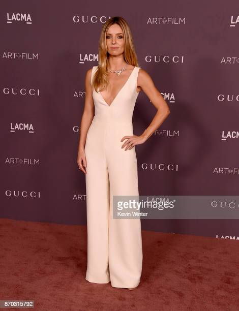Actor Annabelle Wallis attends the 2017 LACMA Art Film Gala Honoring Mark Bradford And George Lucas at LACMA on November 4 2017 in Los Angeles...
