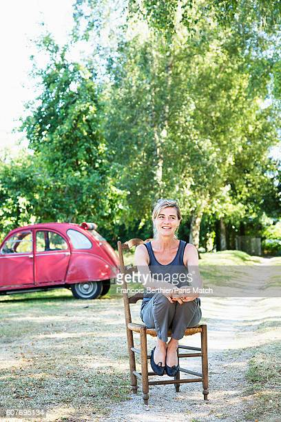 Actor Anne Consigny is photographed for Paris Match on August 12 2016 in Orne France