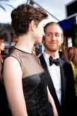 Actor Anne Hathaway and Adam Shulman arrives at the 19th Annual Screen Actors Guild Awards held at The Shrine Auditorium on January 27 2013 in Los...