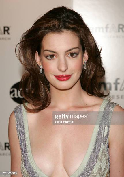 Actor Anne Hathaway attends the amfar and ACRIA gala benefit honoring photographer Herb Ritts on February 2 2005 in New York City
