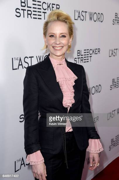 Actor Anne Heche at the premiere of Bleecker Street Media's 'The Last Word' at ArcLight Hollywood on March 1 2017 in Hollywood California