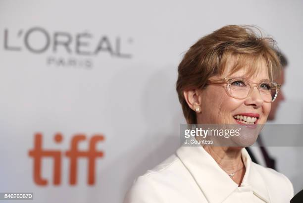 Actor Annette Bening speaks to the media at the premiere of 'Film Stars Don't Die In Liverpool' during the 2017 Toronto International Film Festival...