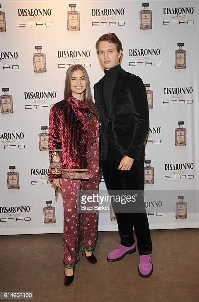 Actor Ansel Elgort and ballet dancer Violetta Komyshan attend DISARONNO Wears ETRO Launch Event at ETRO in Soho October 13 2016 in New York City