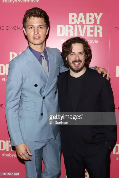 Actor Ansel Elgort and writer/director Edgar Wright attend the screening of 'Baby Driver' hosted by TriStar Pictures with The Cinema Society and...