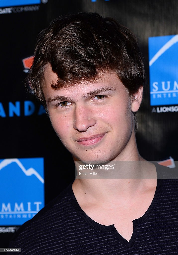 Actor <a gi-track='captionPersonalityLinkClicked' href=/galleries/search?phrase=Ansel+Elgort&family=editorial&specificpeople=9064000 ng-click='$event.stopPropagation()'>Ansel Elgort</a> arrives at Summit Entertainment's press event for the movies 'Ender's Game' and 'Divergent' at the Hard Rock Hotel San Diego on July 18, 2013 in San Diego, California.
