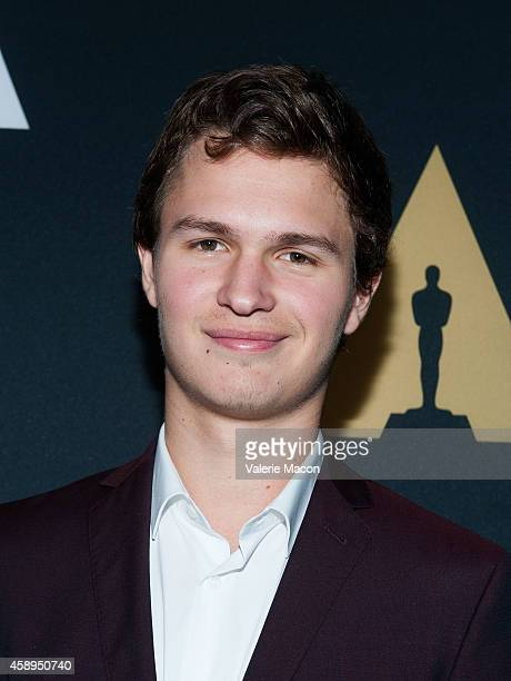 Actor Ansel Elgort arrives at the Academy Of Motion Picture Arts And Sciences' 2014 Academy Nicholl Fellowships In Screenwriting Awards Live Read at...