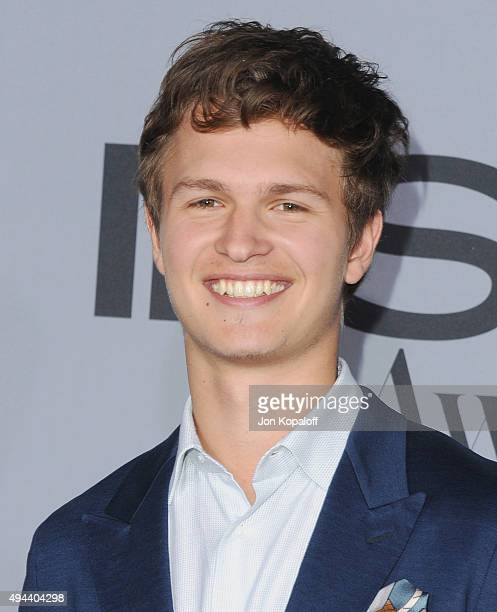 Actor Ansel Elgort arrives at the InStyle Awards at Getty Center on October 26 2015 in Los Angeles California