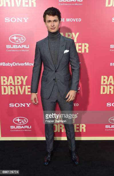 Actor Ansel Elgort arrives at the Premiere of Sony Pictures' 'Baby Driver' at Ace Hotel on June 14 2017 in Los Angeles California