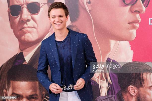 Actor Ansel Elgort attends a photocall for 'Baby Driver' at the Villa Magna Hotel on June 23 2017 in Madrid Spain