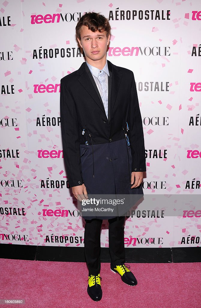 Actor Ansel Elgort attends the 10th Anniversary of Teen Vogue and Aeropostale's Celebration of Chloe Grace Moretz's Sweet 16 at Aeropostale Times Square on February 7, 2013 in New York City.