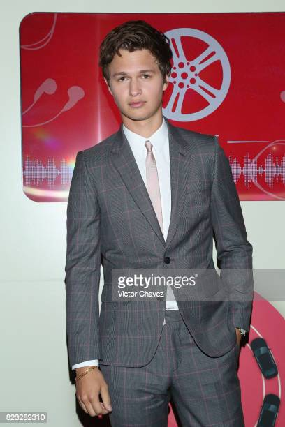 Actor Ansel Elgort attends the 'Baby Driver' Mexico City premier at Cinemex Antara Polanco on July 26 2017 in Mexico City Mexico