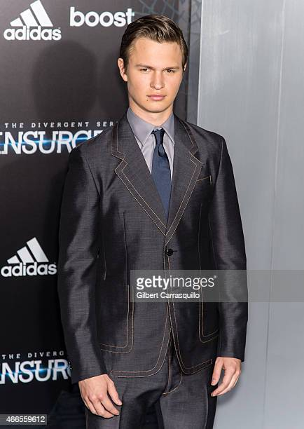 Actor Ansel Elgort attends The Divergent Series' 'Insurgent' New York premiere at Ziegfeld Theater on March 16 2015 in New York City