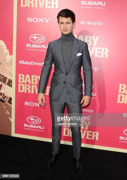 Actor Ansel Elgort attends the premiere of 'Baby Driver' at Ace Hotel on June 14 2017 in Los Angeles California