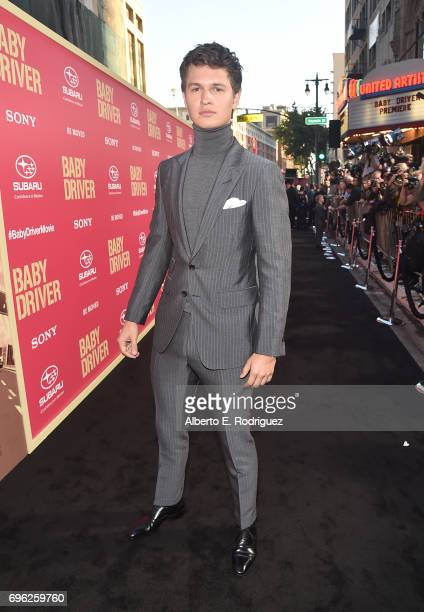 Actor Ansel Elgort attends the premiere of Sony Pictures' 'Baby Driver' at Ace Hotel on June 14 2017 in Los Angeles California