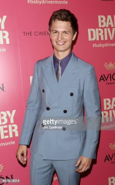 Actor Ansel Elgort attends the screening of 'Baby Driver' hosted by TriStar Pictures with The Cinema Society and Avion at The Metrograph on June 26...