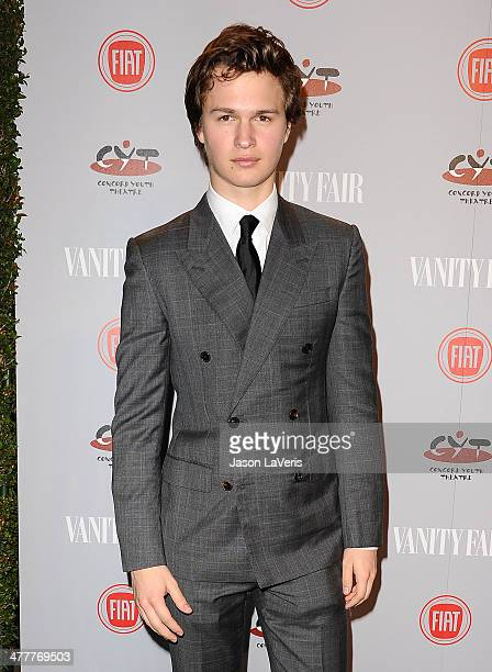 Actor Ansel Elgort attends the Vanity Fair Campaign Young Hollywood party at No Vacancy on February 25 2014 in Los Angeles California