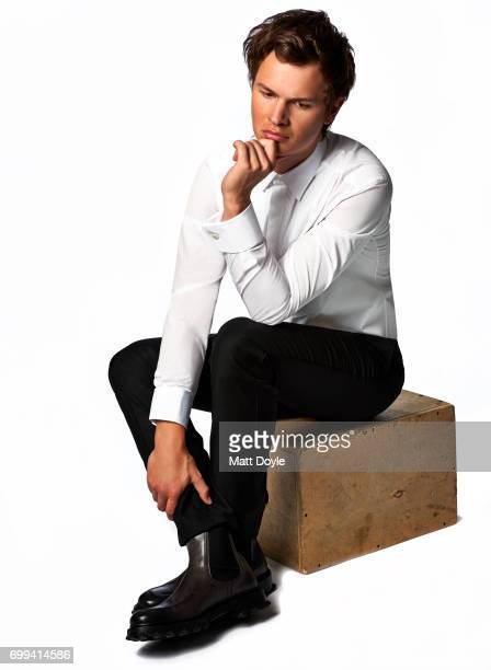 Actor Ansel Elgort is photographed for Back Stage on April 6 in New York City PUBLISHED IMAGE
