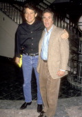Actor Anson Williams and Actor Henry Winkler attend the 'Cop and 1/2 ' Universal City Premiere on March 28 1993 at Cineplex Odeon Universal City 18...