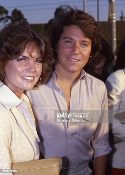 Actor Anson Williams from the TV show 'Happy Days' attends an event with his wife Lorrie Mahaffey in 1980 in Los Angeles California