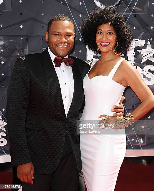 Actor Anthony Anderson and actress Tracee Ellis Ross attend the 2015 BET Awards at the Microsoft Theater on June 28 2015 in Los Angeles California
