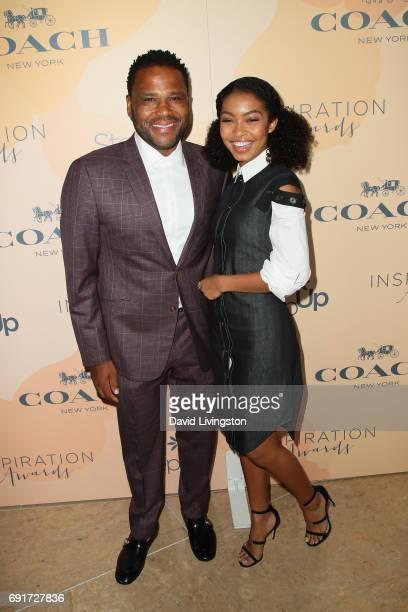 Actor Anthony Anderson and actress Yara Shahidi attend the 14th Annual Inspiration Awards at The Beverly Hilton Hotel on June 2 2017 in Beverly Hills...