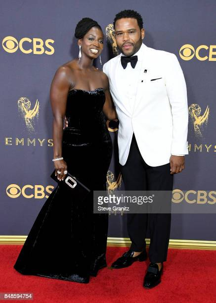 Actor Anthony Anderson and Alvina Renee Stewart attend the 69th Annual Primetime Emmy Awards at Microsoft Theater on September 17 2017 in Los Angeles...